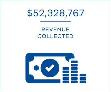 $52,328,767 revenue collected