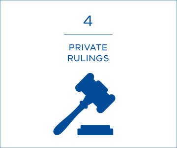 4 private rulings